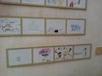 Kresby u vstupu