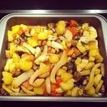 Pečená zelenina s kuřecím masem