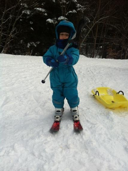 Podruhé na lyžích