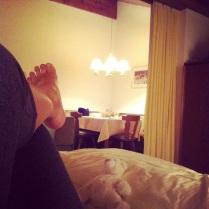 Víkend v Rakousku. Měli jsme moc hezké ubytování v apartmánu.