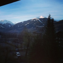 Výhled taky nebyl špatný :-). Miluju Alpy!