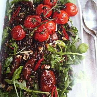 Původní předloha s rukolou a chilli papričkami