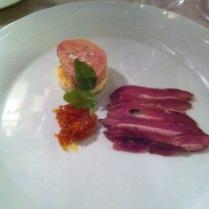 Foie gras a králičí bokovina (jsme přece na Moravě :-))