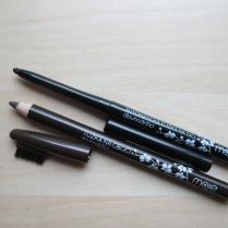 Automatická tužka na oči a tužka na obočí s kartáčkem