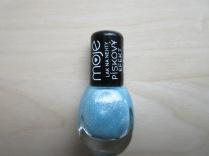 Letní modrý pískový lak na nehty