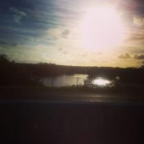 Západ slunce nad floridskými močály