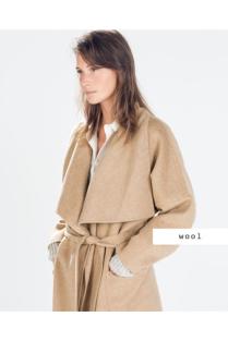 Zara; béžový kabát na zimu mi chybí