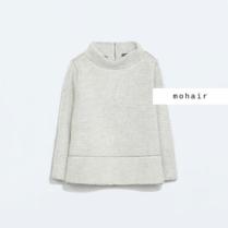 Zara; mohérový svetřík zajímavého střihu :-)