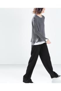 Zara; další pohodlný outfit s měkkým svetříkem