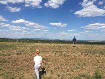 S dědou na vyhlídce nad vinohrady