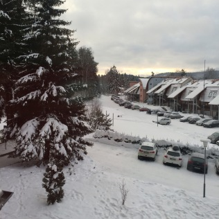 Lipno - spousta sněhu