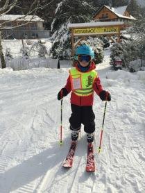 Náš malý lyžař :-)